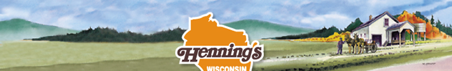 Henning's Cheese Logo and Factory